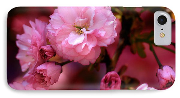 IPhone Case featuring the photograph Lovely Spring Pink Cherry Blossoms by Shelley Neff