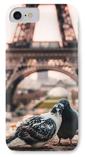 Lover Doves In Paris IPhone Case
