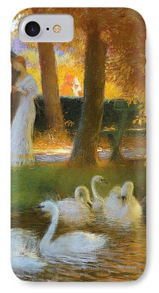 Lovers And Swans  The Autumn Walk IPhone Case