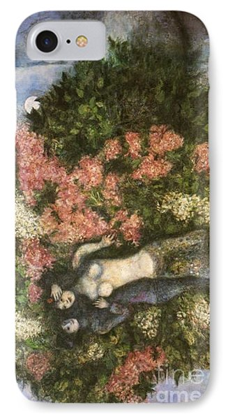 Lovers In The Lilacs IPhone Case by Marc Chagall