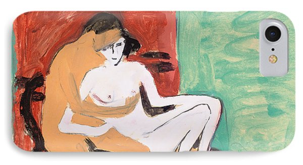 Lovers Or Young Couple IPhone Case by Ernst Ludwig Kirchner