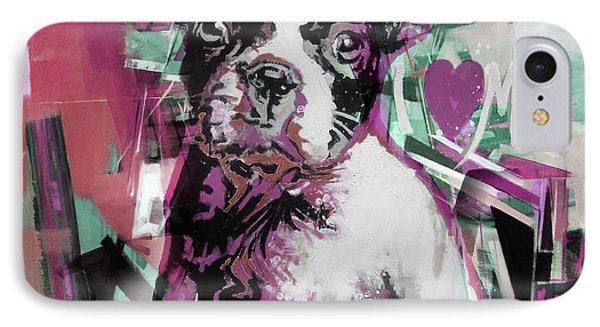 Loving Dog 66n IPhone Case by Gull G