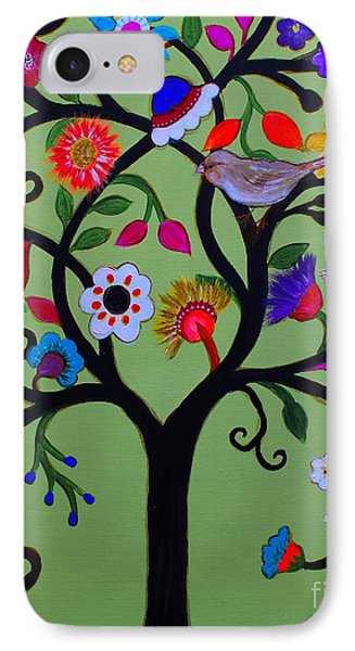 IPhone Case featuring the painting Loving Tree Of Life by Pristine Cartera Turkus