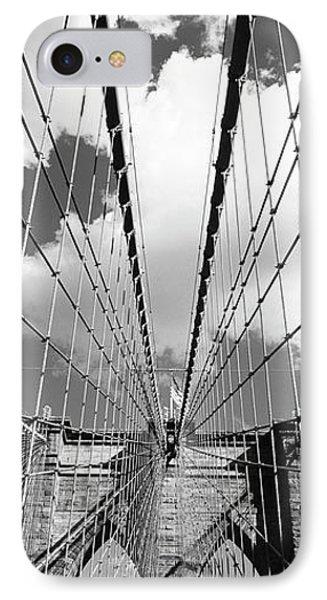 Low Angle View Of A Bridge, Brooklyn Bridge, Manhattan, New York City, New York State, Usa IPhone Case