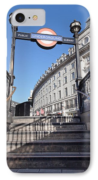 Low Angle View Of Entrance Of Subway IPhone Case by Panoramic Images