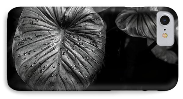 Low Key Nature Background, Textured Plants, Leaves For Decorativ IPhone Case by Jingjits Photography