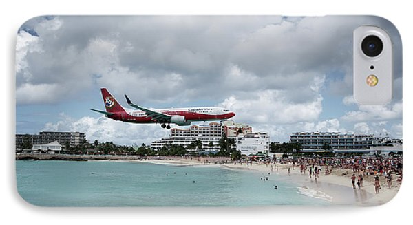 Low Landing At Sonesta Maho Beach IPhone Case