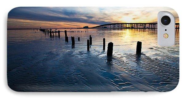 Low Tide Biloxi Bay Bridge IPhone Case