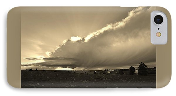 Low-topped Supercell Black And White  IPhone Case