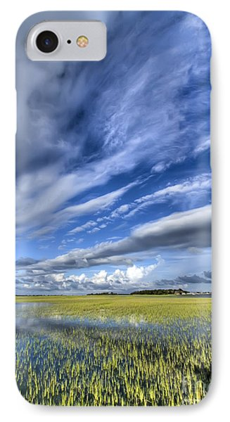 Lowcountry Flood Tide And Clouds IPhone Case