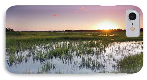 Lowcountry Flood Tide Sunset IPhone Case