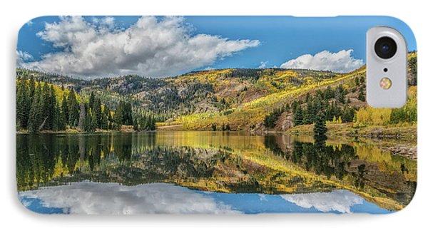 Lower Cataract Lake Aspen IPhone Case by Stephen Johnson