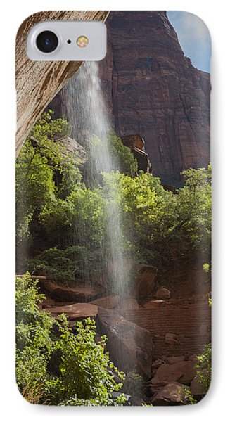 Lower Emerald Pool Falls In Zion IPhone Case