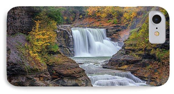Lower Falls In Autumn Phone Case by Rick Berk
