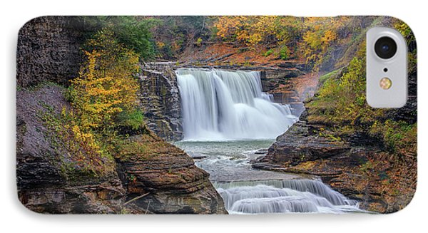 Lower Falls In Autumn IPhone Case by Rick Berk