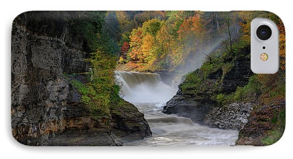 Lower Falls Of The Genesee River IPhone Case by Rick Berk