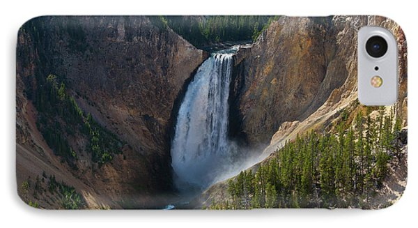 IPhone Case featuring the photograph Lower Falls Of Yellowstone River by Roger Mullenhour