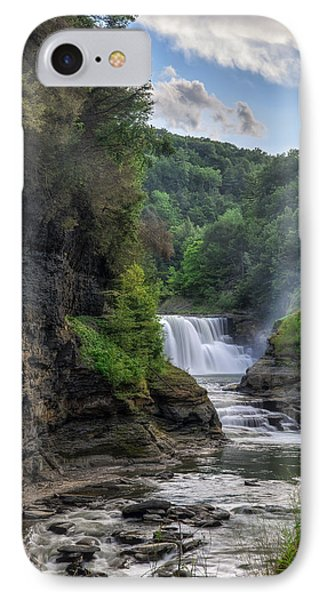 Lower Falls - Summer IPhone Case by Mark Papke