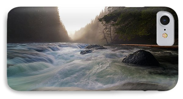 Lower Lewis River Falls During Sunset Phone Case by David Gn