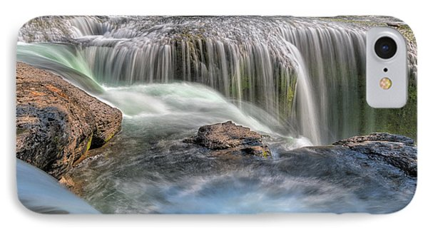 Lower Lewis River Falls Rush Phone Case by David Gn