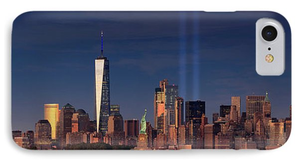 IPhone Case featuring the photograph Lower Manhattantribute In Light by Emmanuel Panagiotakis
