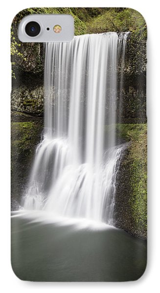 Lower South Falls In Silver Falls State Park IPhone Case by John McGraw