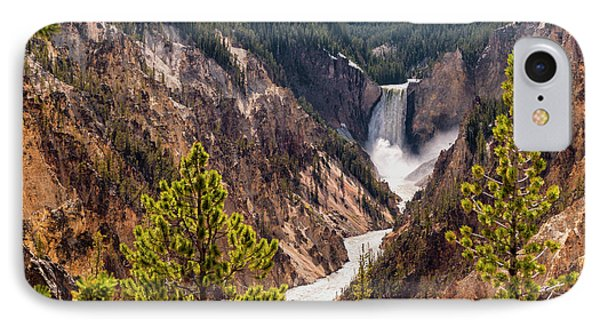 Lower Yellowstone Canyon Falls 5 - Yellowstone National Park Wyoming IPhone Case