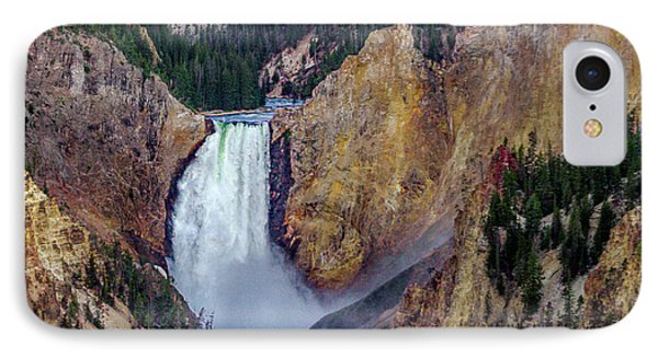 Lower Yellowstone Falls II IPhone Case by Bill Gallagher