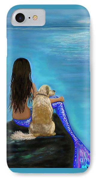 IPhone Case featuring the painting Loyal Loving Buddy by Leslie Allen
