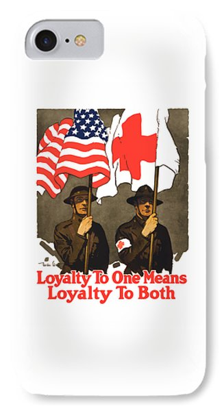 Cross iPhone 7 Case - Loyalty To One Means Loyalty To Both by War Is Hell Store