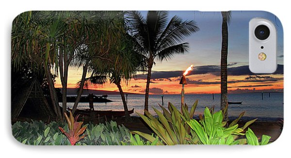 Luau Sunset Maui Phone Case by Pierre Leclerc Photography