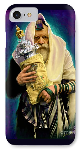 Lubavitcher Rebbe With Torah IPhone Case by Sam Shacked