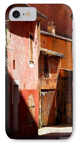 IPhone Case featuring the photograph Luberon Village Street by Olivier Le Queinec