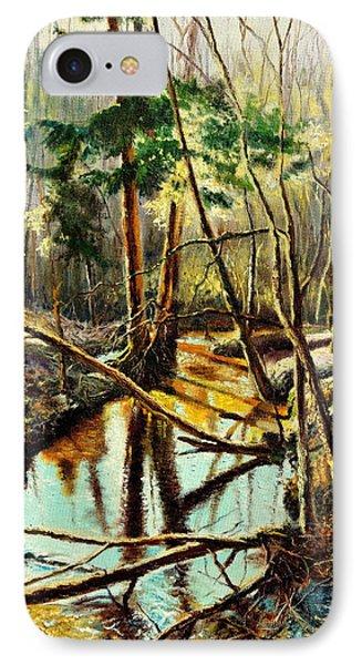 Lubianka-1- River IPhone Case by Henryk Gorecki