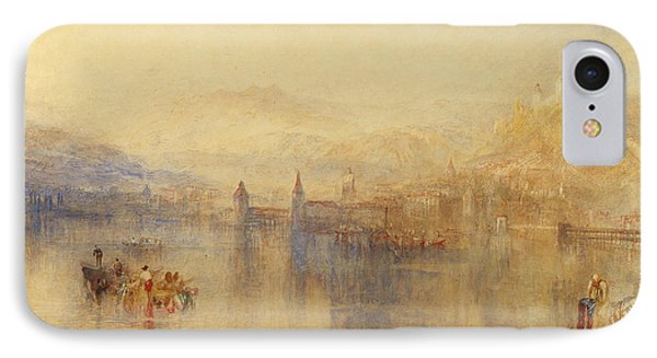 Lucerne From The Lake IPhone Case by Joseph Mallord William Turner