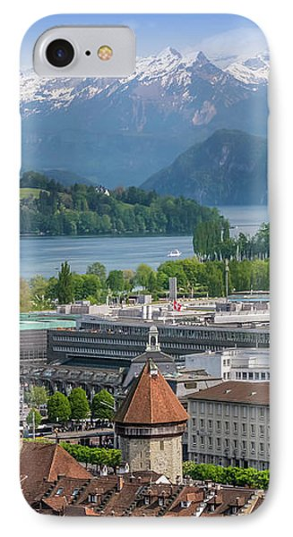 Lucerne View To Lake Lucerne IPhone Case by Melanie Viola