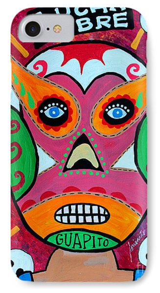 IPhone Case featuring the painting Lucha Libre by Pristine Cartera Turkus