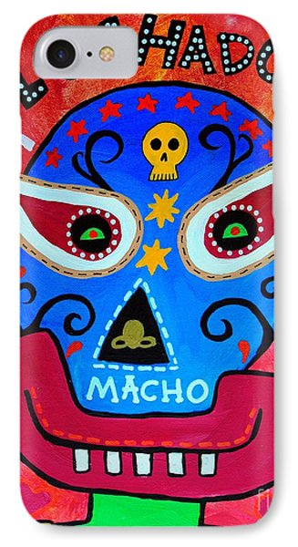 IPhone Case featuring the painting Luchador by Pristine Cartera Turkus