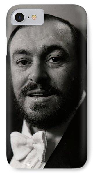 Luciano Pavarotti IPhone Case by KG Thienemann