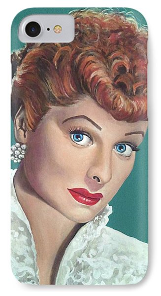 Lucille Ball Phone Case by Tom Carlton