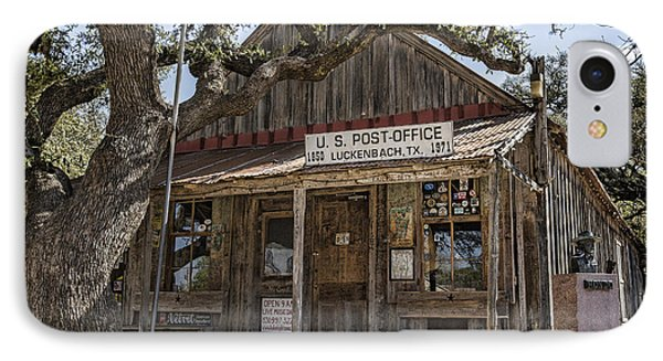 Luckenbach Tx General Store IPhone Case by Stephen Stookey