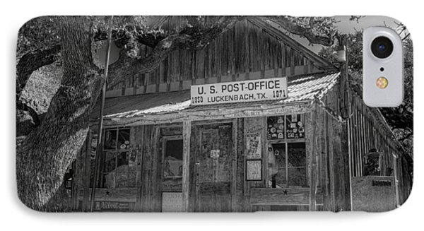 Luckenbach Tx Post Office #2 IPhone Case by Stephen Stookey