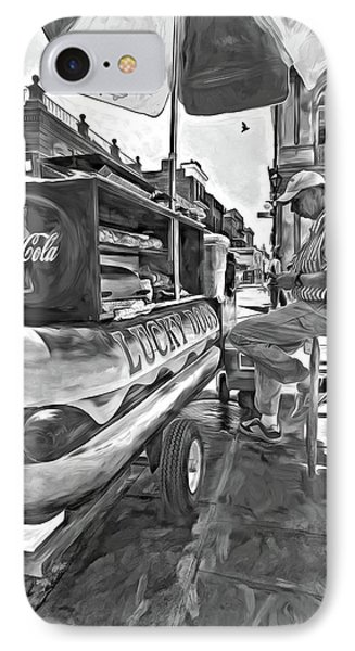 Lucky Dogs And Coke - Paint Bw IPhone Case