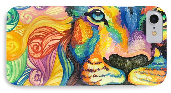 Lucky Lion Spirit IPhone Case by Sarah Jane