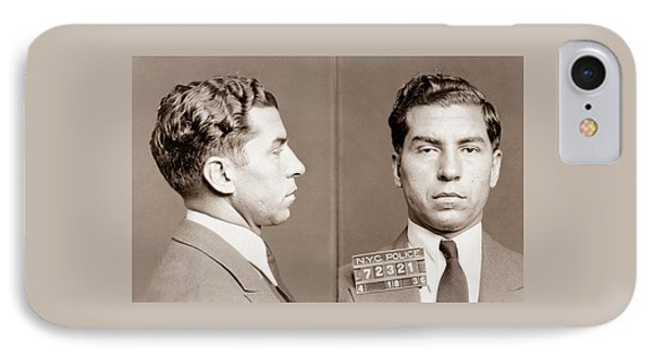 Lucky Luciano Mugshot IPhone Case by War Is Hell Store