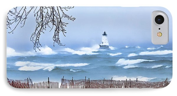 Ludington Winter Shore  IPhone Case