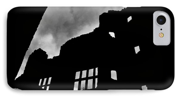 Ludlow Storm Threatening Skies Over The Ruins Of A Castle Spooky Halloween Phone Case by Andy Smy