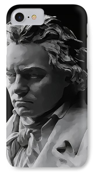 IPhone Case featuring the mixed media Ludwig Van Beethoven by Daniel Hagerman