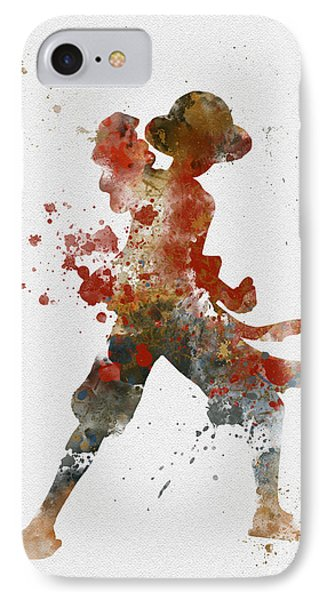Luffy IPhone Case by Rebecca Jenkins