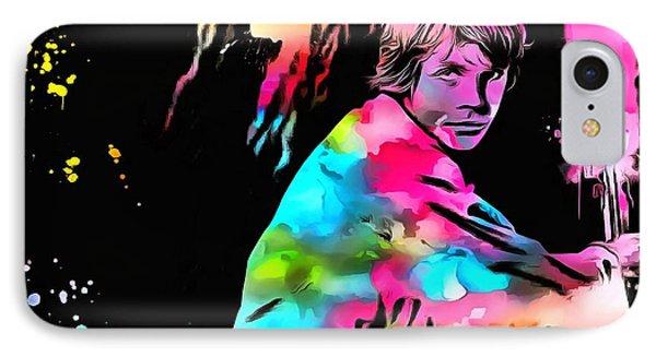 Luke Skywalker Paint Splatter IPhone Case by Dan Sproul